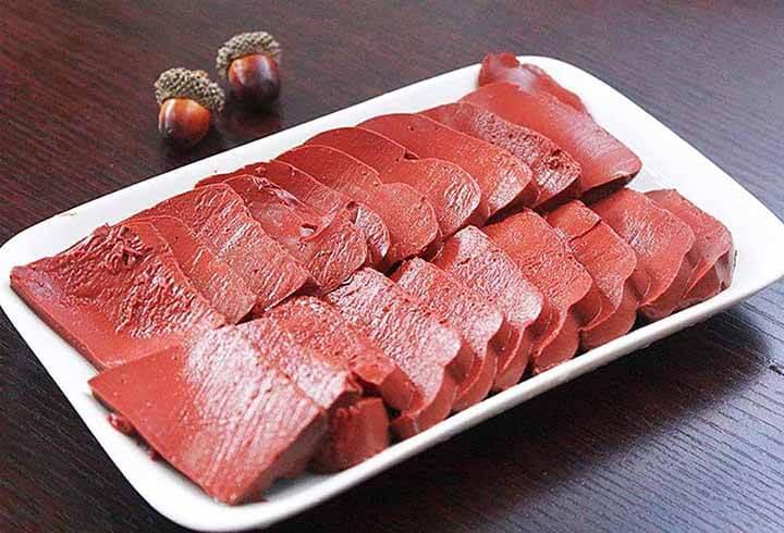 Gan lợn là món ăn phổ biến