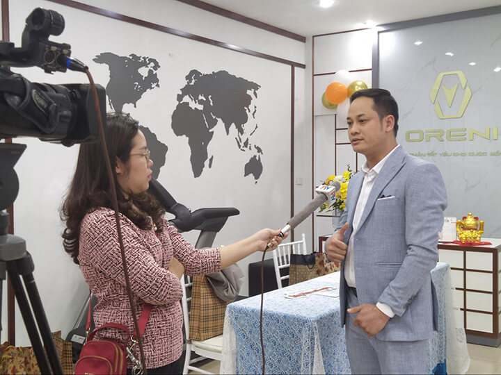 Đài Phát thanh & Truyền hình Phú Thọ trực tiếp đưa tin ngày ra mắt sản phẩm mới ghế massage Oreni