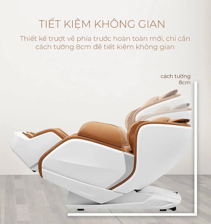 Tính năng của ghế massage Zero Wall giúp bạn tiết kiệm được không gian tối đa