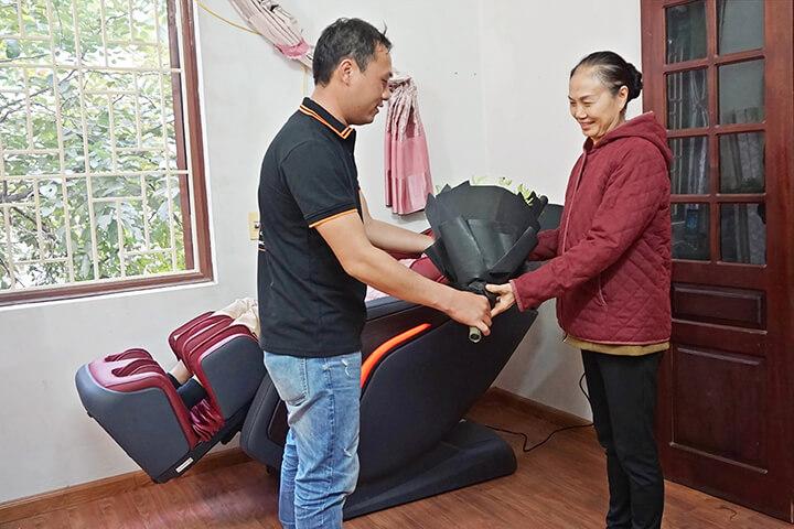 Ghế massage là sản phẩm chăm sóc sức khỏe con người nhờ tác động vật lý