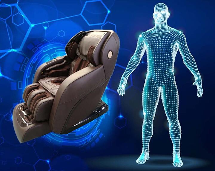 Trước khi vào bài massage, hệ thống sẽ quét toàn bộ cơ thể mình để định vị vị trí