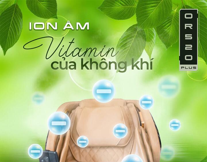 Tận hưởng bầu không khí xung quanh trong lành qua tính năng ion âm