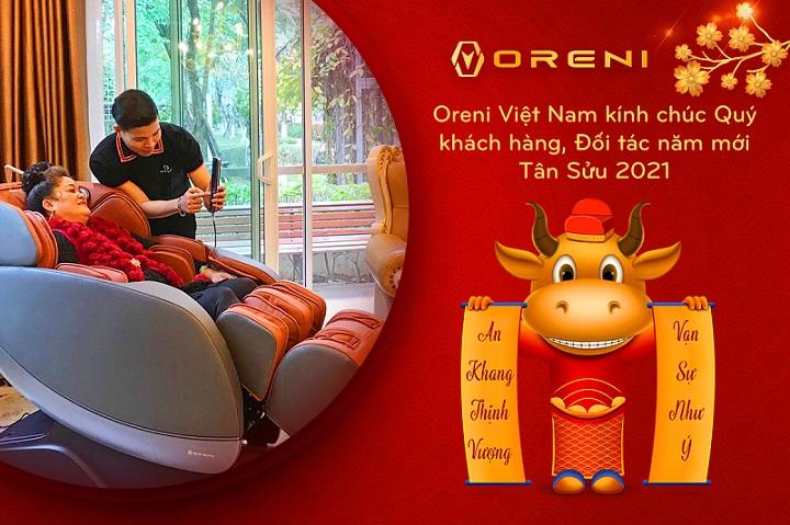 Đón xuân Tân Sửu 2021, Oreni Việt Nam kính chúc Quý khách hàng, Đối tác năm mới sức khoẻ, nhiều tài lộc, vạn sự hanh thông