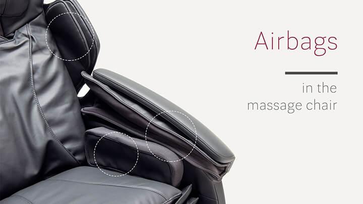 Túi khí massage là bộ phận quan trọng của ghế massage