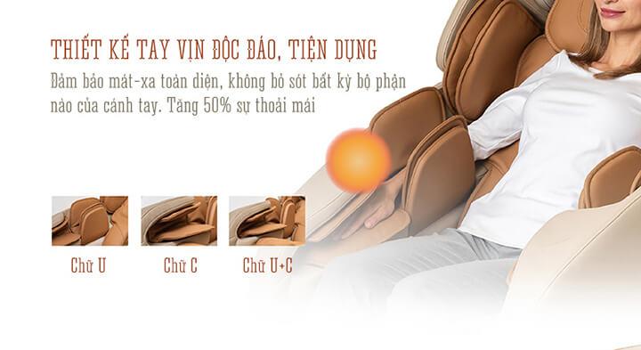 Túi khí massage có nhiều kiểu hình dạng khác nhau