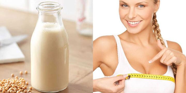 Uống sữa đậu nành được chứng minh giúp hỗ trợ tăng kích cỡ vòng 1 ở nữ giới
