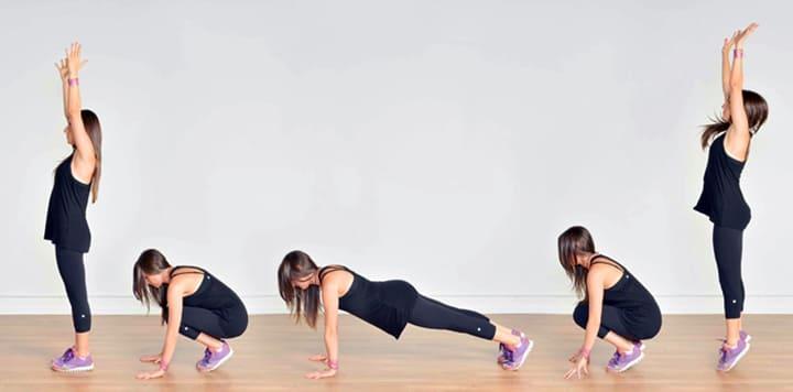 Burpees là bài tập Workout hỗ trợ đốt cháy mỡ thừa toàn thân