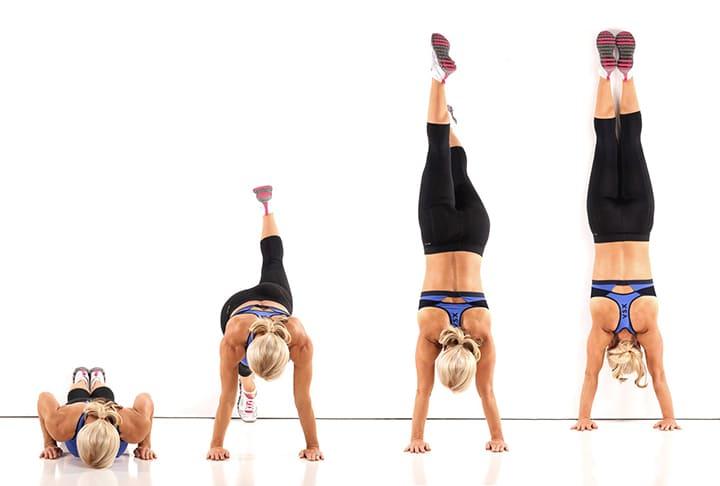 Bài tập Handstand Wall Walk