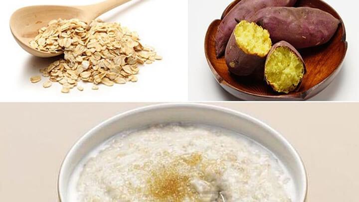 Kết hợp yến mạch và khoai lang tạo nên món súp thơm ngon