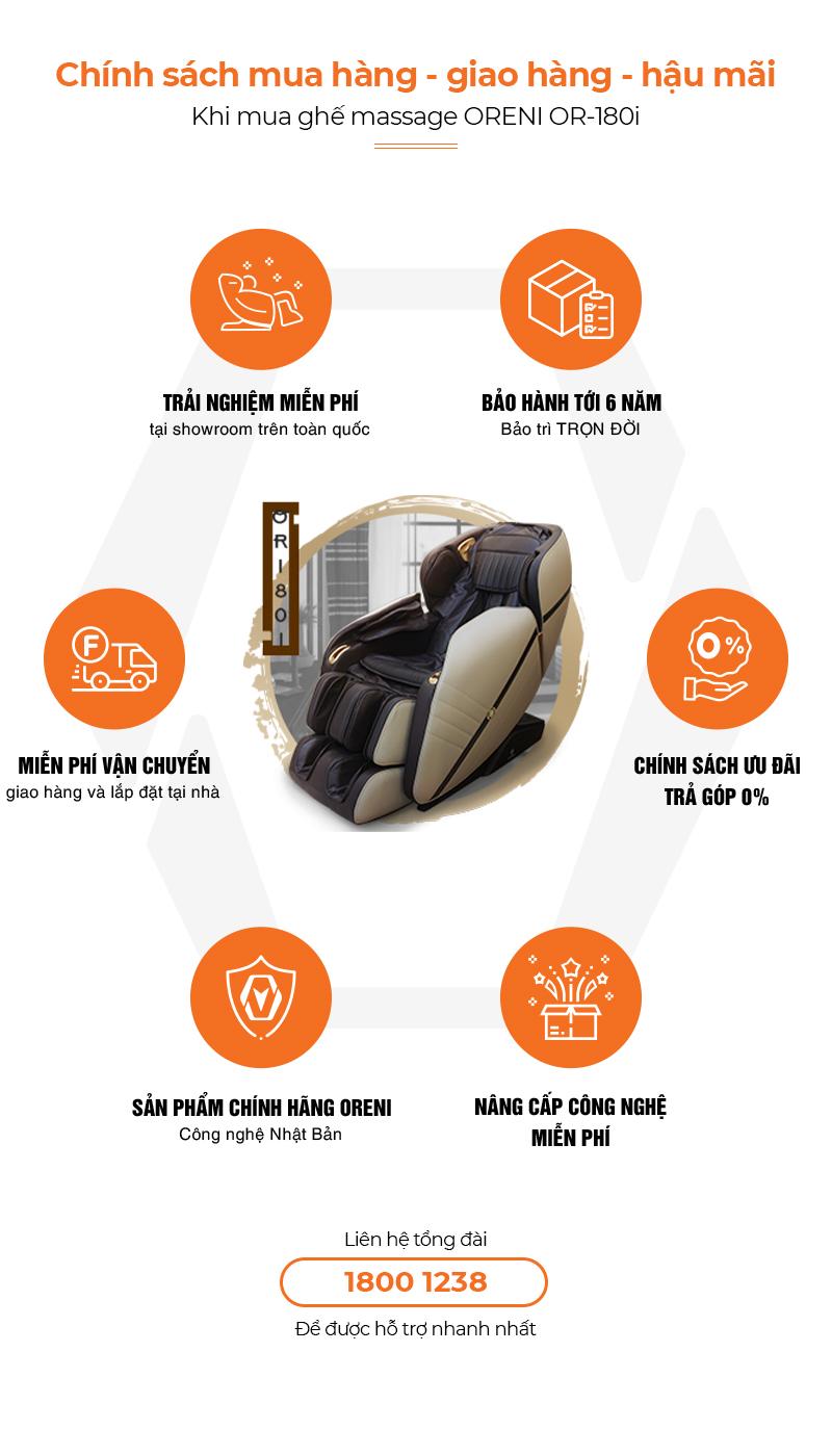 Chính sách hậu mãi ghế massage Oreni OR-180i