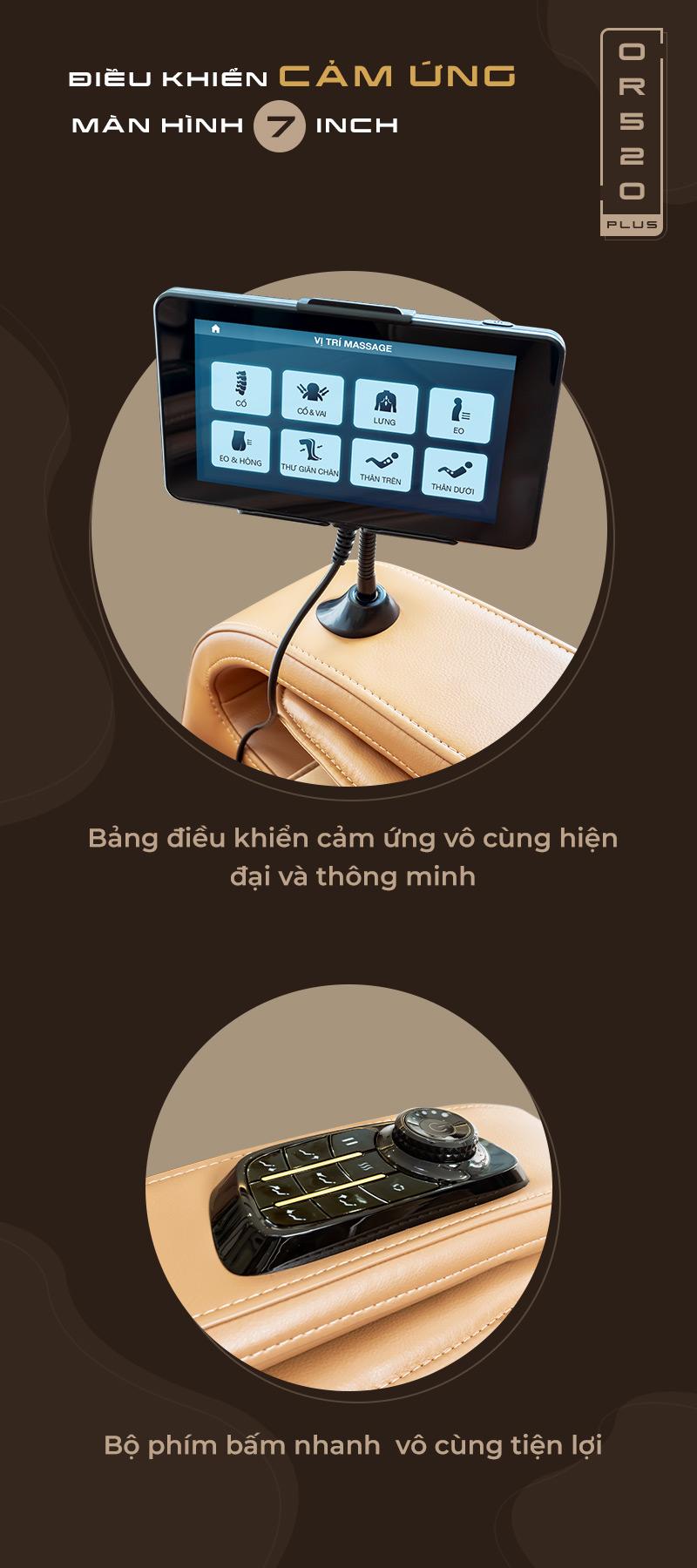 Trang bị bảng điều khiển cảm ứng thông minh tiện dụng, dễ sử dụng