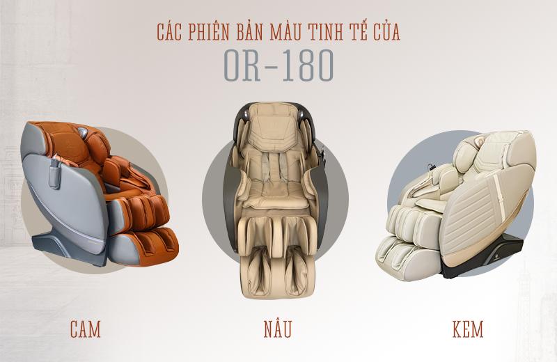 Các phiên bản màu của ghế massage Oreni OR-180