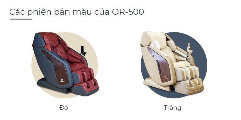 Các phiên bản màu của ghế massage Oreni OR500