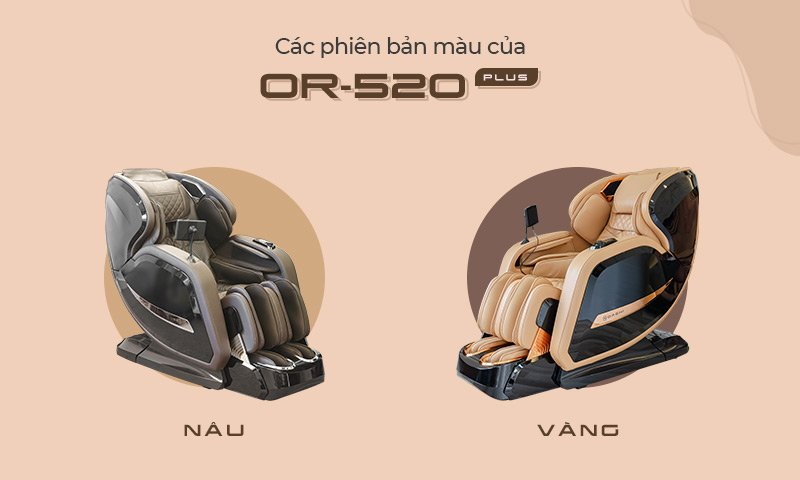 Các phiên bản màu của ghế massage Oreni OR-520 Plus