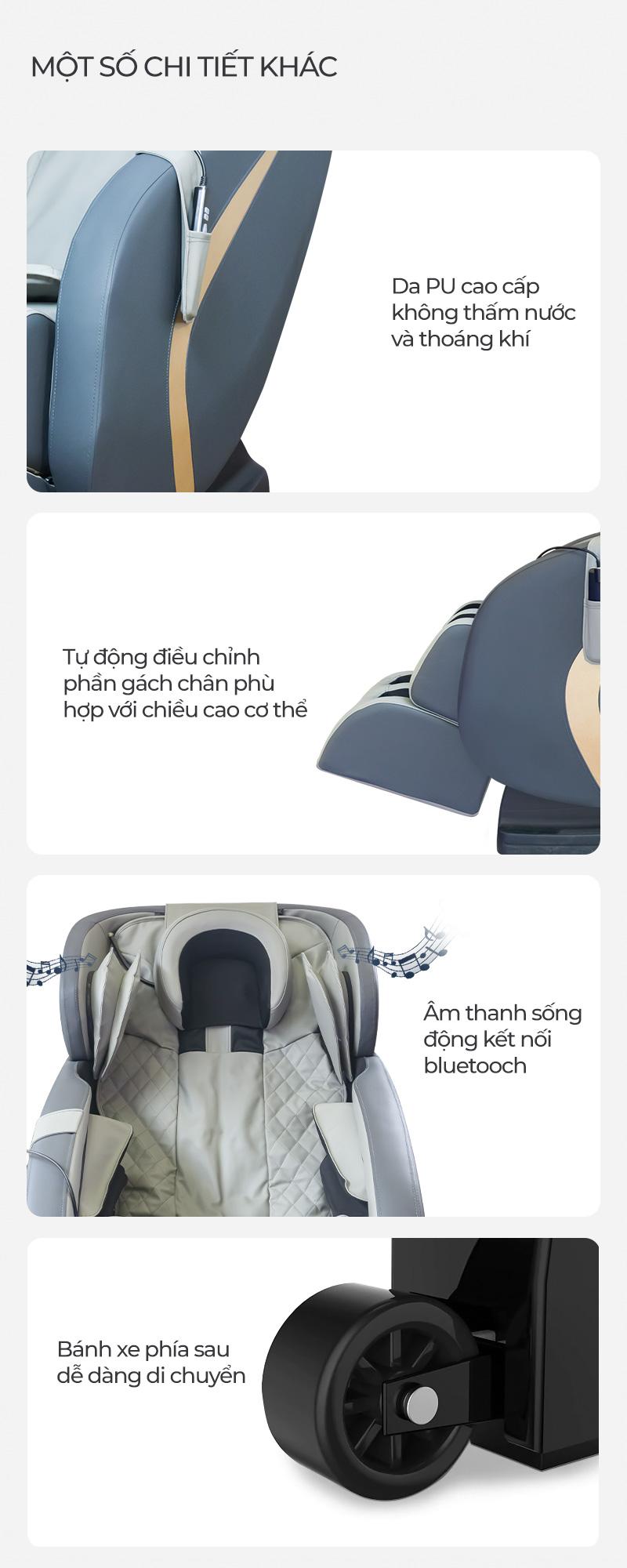 các tính năng hiện đại của ghế massage oreni or-150