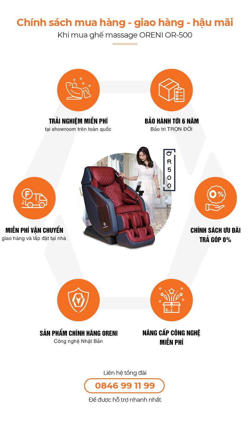 chính sách hậu mãi ghế massage oreni or-500