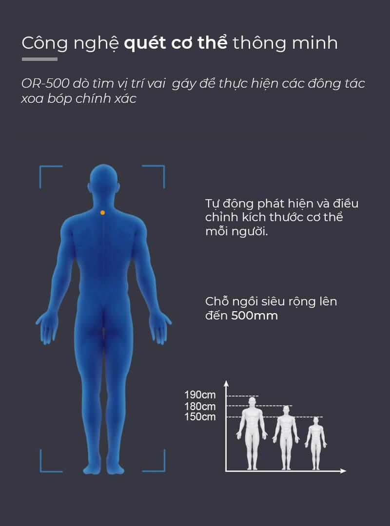 Công nghệ massage túi khí êm ái và thoải mái