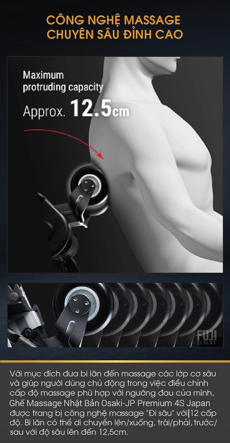 Con lăn 4D và hệ thống túi khí 3 chế độ