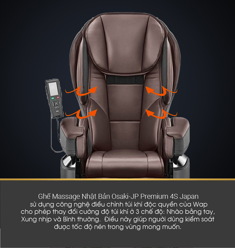 Túi khí ghế massage Nhật Bản
