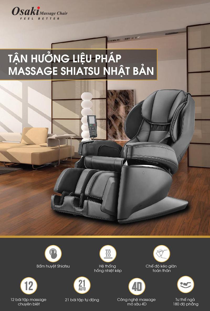 Ghế massage Nhật Bản OSAKI-JP Premium 4S Japan