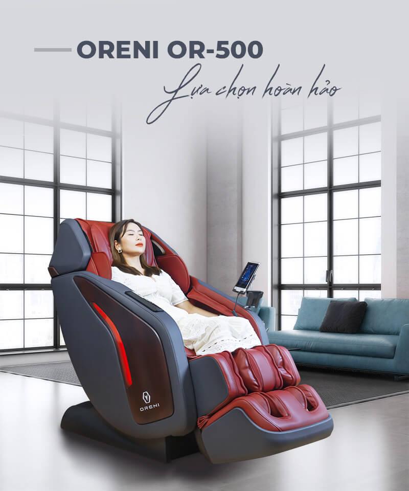 ghế massage oreni or-500 kiểu dáng sang trọng đẳng cấp