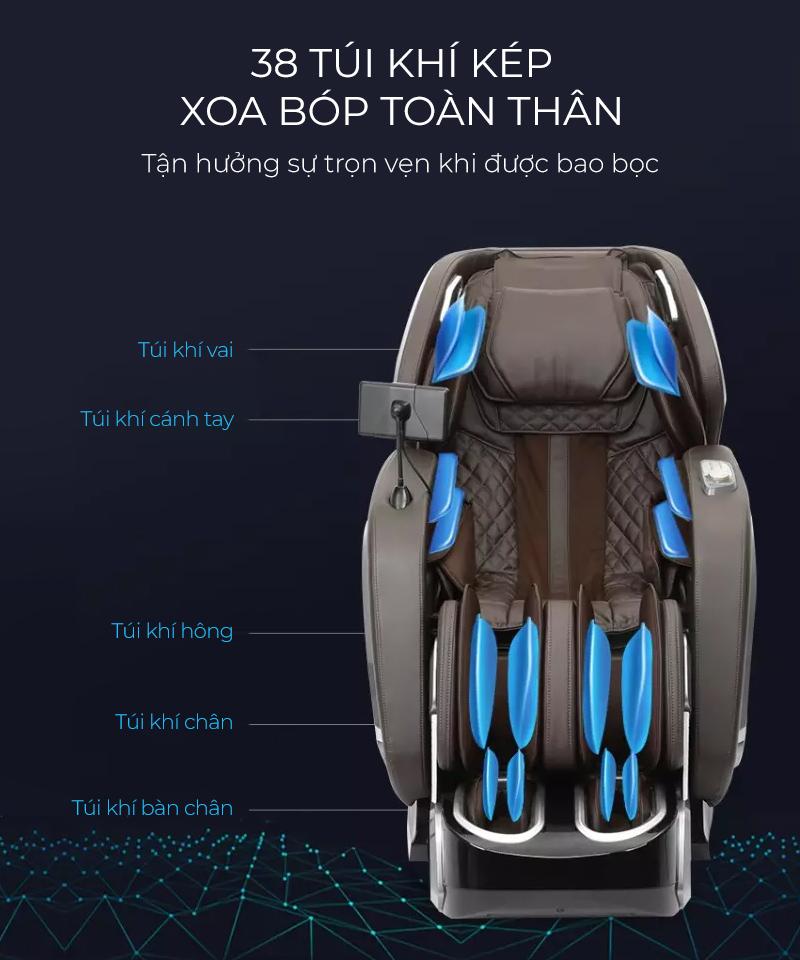 Hệ thống túi khí massagecho toàn bộ cơ thể