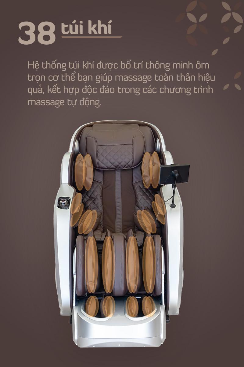hệ thống túi khí massage của oreni or-350