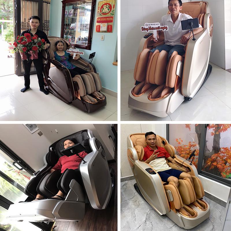Khách hàng luôn tin tưởng và lựa chọn ghế massage Oreni OR-350