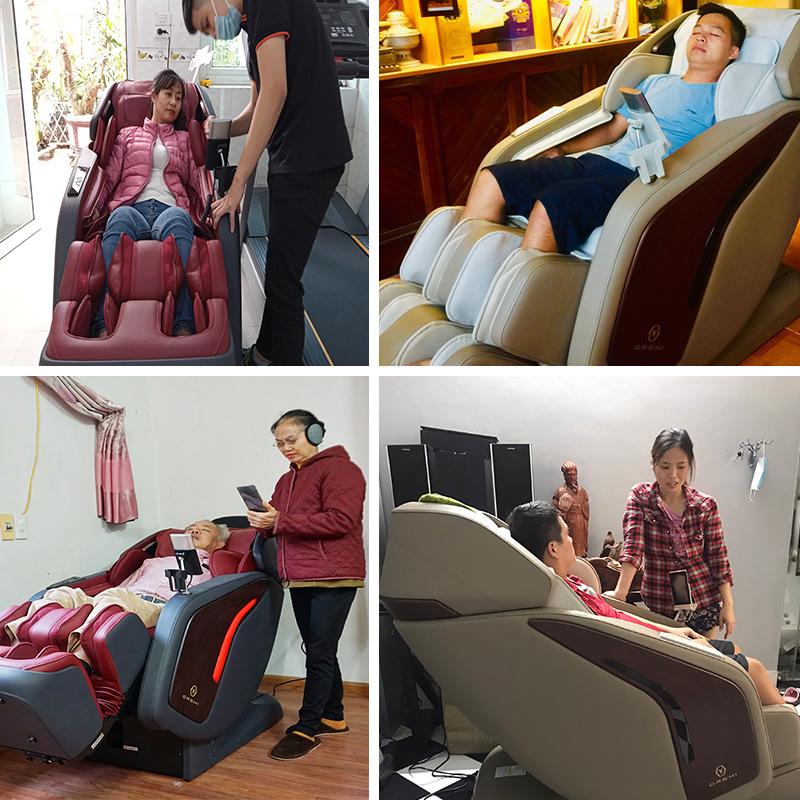 Khách hàng luôn tin tưởng và lựa chọn ghế massage Oreni OR-500