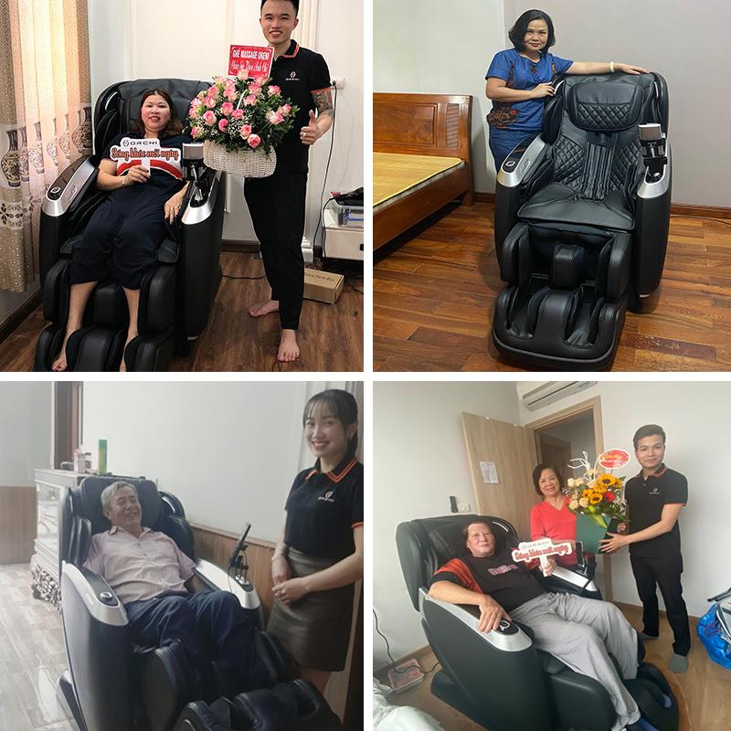 Khách hàng luôn tin tưởng và lựa chọn ghế massage Oreni OR-390