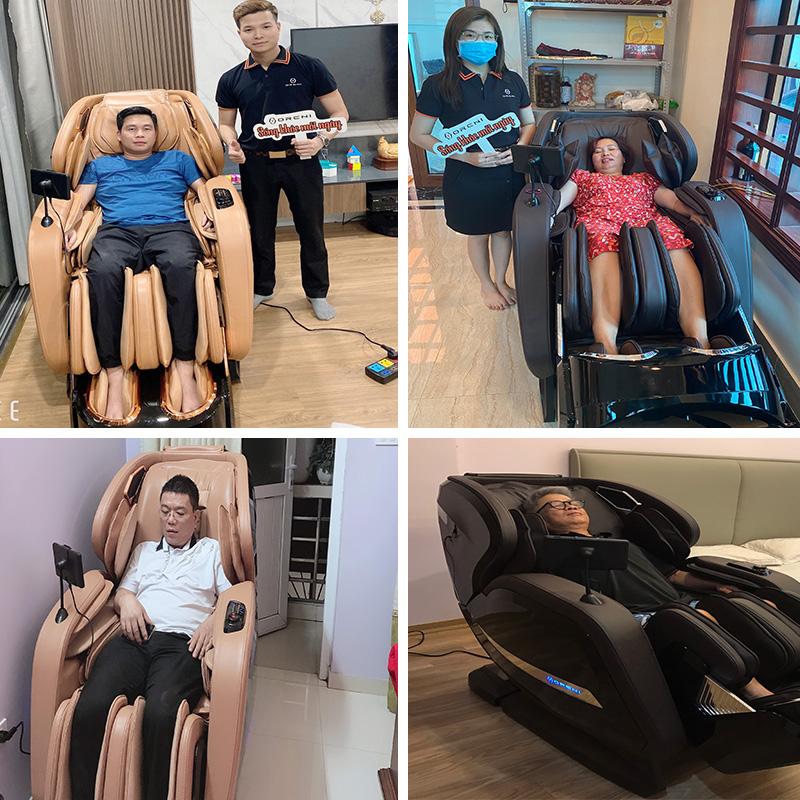 Khách hàng luôn tin tưởng và lựa chọn ghế massage OreniOR-520 Plus