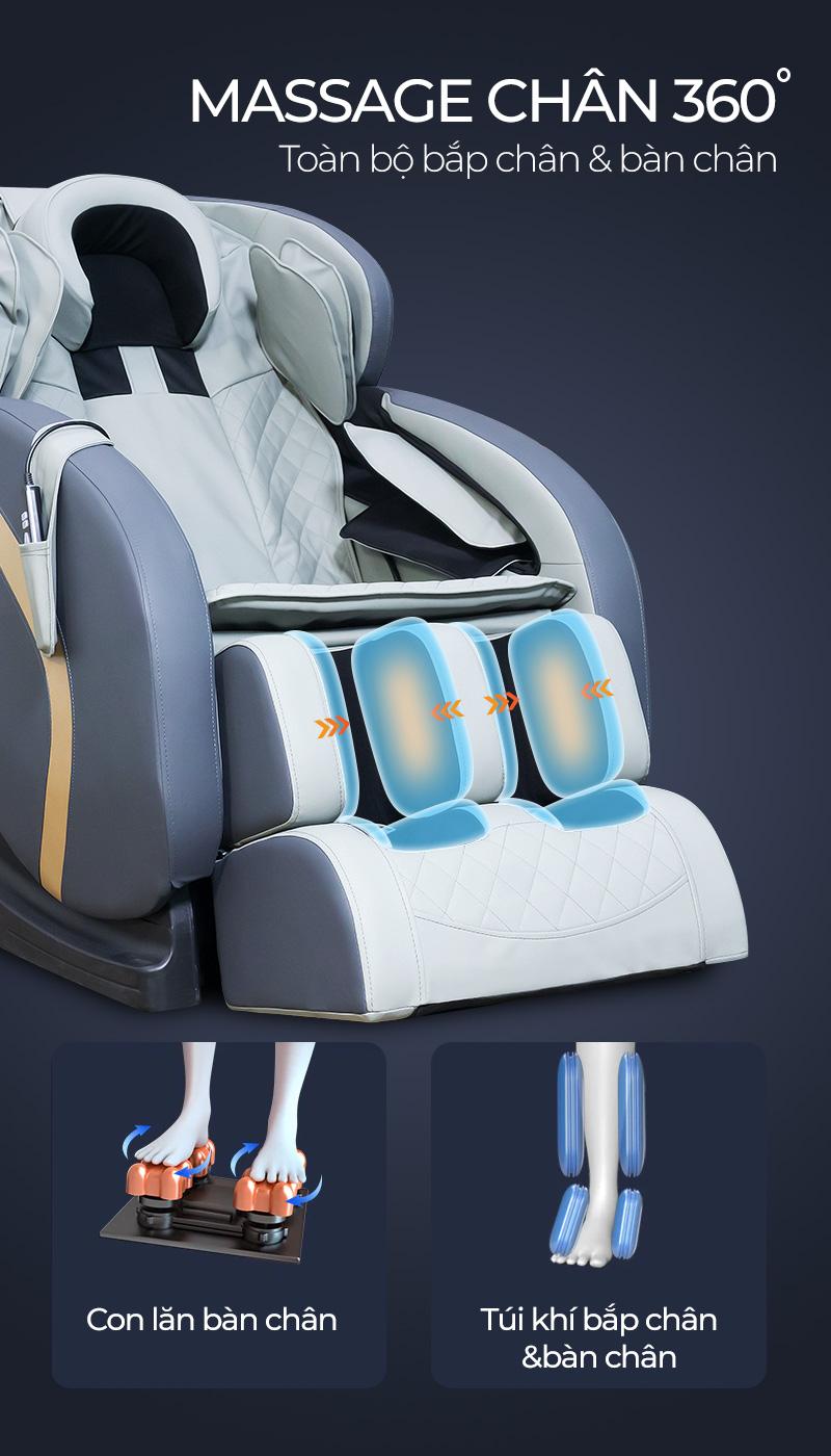 Tính năng massage chân độc đáo 360 độ