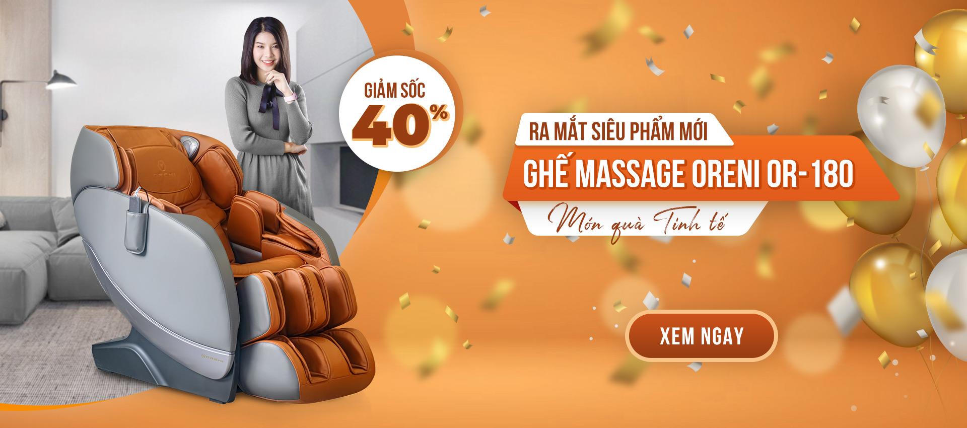 ra mắt ghế massage oreni or-180 giảm giá đặc biệt