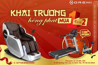 Khai trương showroom ghế massage Oreni Bình Tân tưng bừng quà tặng hấp dẫn