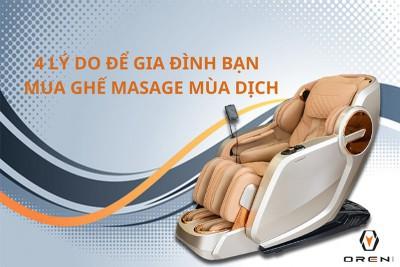 4 lý do nhất định phải mua ghế massage trong mùa dịch